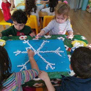 """Проект """"Снежинки"""" във втора възрастова група!"""