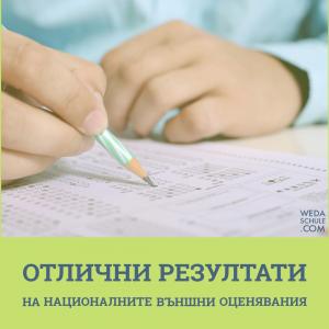 Резултати от външните оценявания за учебната 2020/2021 г.